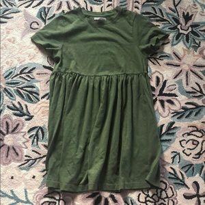 UO Alexa Green Babydoll Dress